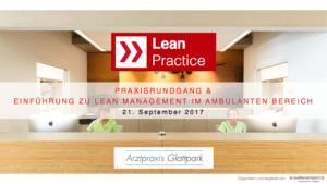Lean-Arztpraxis Flyer