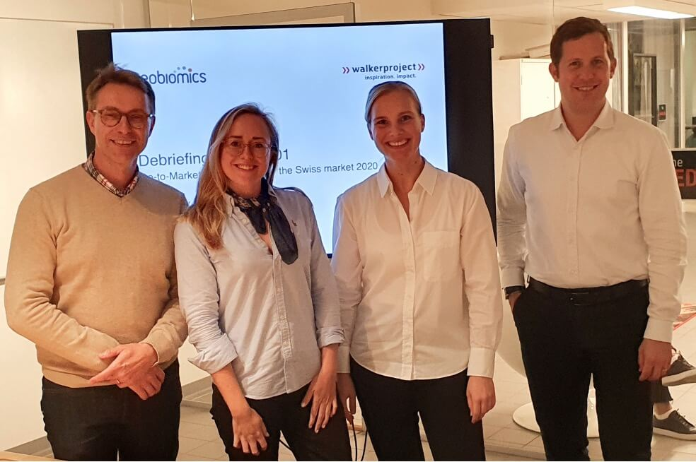 Die Projektteams von Neobiomics & walkerproject Scandinavia